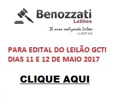 edital leilão GCTI 11 e 12 de maio 2017