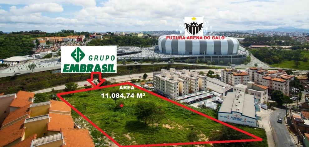 MASSAS FALIDAS DE EMBRASIL, COBIMEX E NATÁLIA. 08 Lotes totalizando uma área de 11.084,74m², loc. no Bairro Santa Maria, BH/MG,