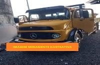 LEILÃO JUDICIAL - Veículo M. BENZ, L 1113 amarelo 1981 - Guarujá/SP