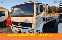 LEILÃO JUDICIAL - Caminhão M. BENZ/1214 - 1996 branco diesel