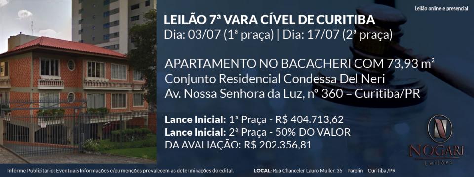 7ª Vara Cível de Curitiba - Nogari Leilões