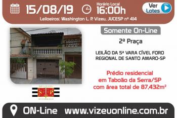 LEILÃO DA 5ª VARA CÍVEL FORO REGIONAL DE SANTO AMARO-SP